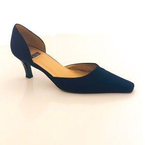 Stuart Weitzman Blue Fabric Heels - 7.5